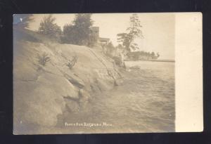 RPPC POINTE AUX BARQUES MICHIGAN VINTAGE REAL PHOTO POSTCARD
