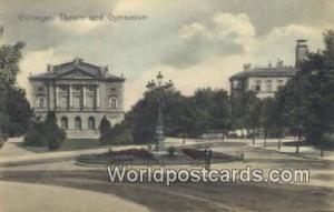 Gottingen Germany, Deutschland Postcard Theater und Gymnasium Gottingen Theat...