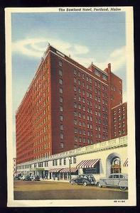 Vintage Portland, Maine/ME Postcard, The Eastland Hotel, Old