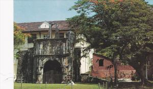 Ancient Fort, Alfonso Albuquerque Portuguese Soldier, Malacca, Malaysia, 40-6...