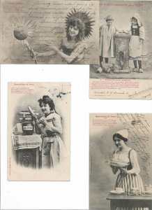 Cute French Fantasy Postcard Lot of 10  01.15