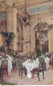 Illinois Chicago Hotel La Salle The Donatello Fountain In Palm Room 1910