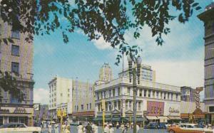 Texas El Paso Downtown El Paso Texas At Mills And Mesa Street 1960