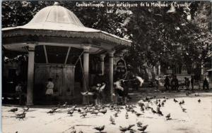 RPPC  CONSTANTINOPLE,Turkey  Pigeons Outside of the MOSQUE ?  1935   Postcard