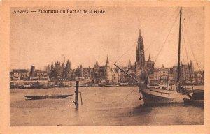 Panorama du Port et de la Rade Anvers Belgium Unused