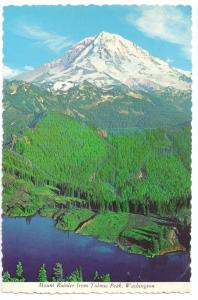 Mount Ranier From Tolmie Peak WA Cascades 1972 4X6