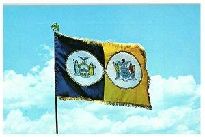 Bandera De New York Port Authority ~ Vintage Tarjeta Postal