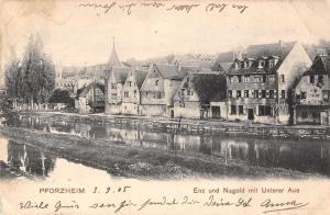 Pforzheim Baden-Wurtemmburg Germany scenic birds eye view antique pc Z17893
