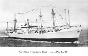 Koninklijke Hollandsche Lloyd-Amsterdam Netherlands~Ship MS Zaanland~RPPC