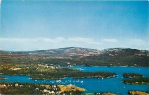 Mount Desert Island Maine~Somesville~Homes~Boats~Islands~1950s Postcard