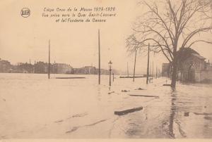 Liege Saint Leonard La Fonderie De Canons Belgium Floods Disaster Postcard