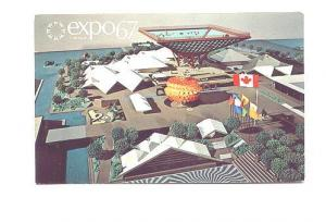 Canada's  Pavilion, Expo 67, Montreal Quebec, Offical Post Card