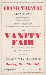 Edna Morris of David Copperfield TV Series 1940s Welsh Theatre Programme