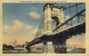 Suspension Bridge, Cincinnati Misc KY 1950