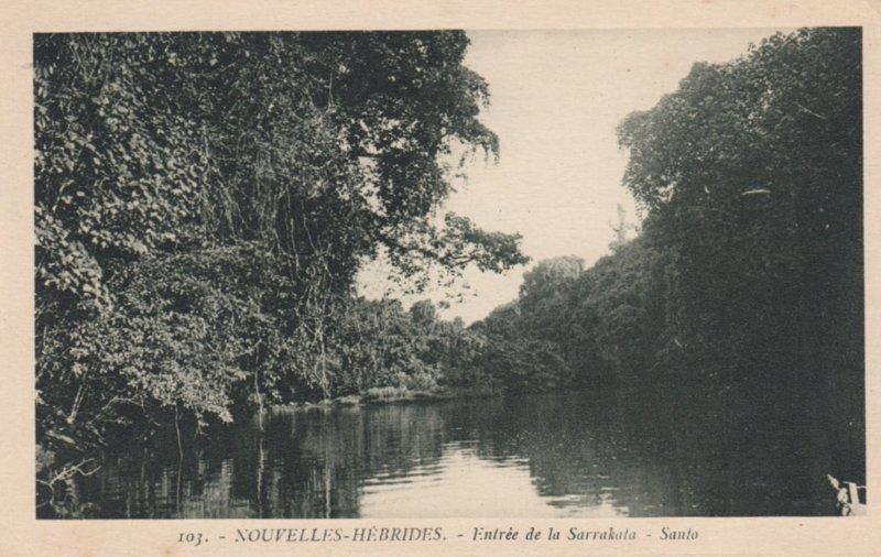 New Hebrides (now Vanuatu), 1910s ; Entree de la Sarrakala-Santo