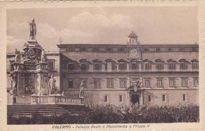 Palazzo Reale e Monumento A Filippo V, Palermo (Sicily), Italy, 1900-1910s