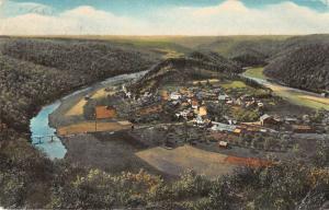 Belgium and Luxembourg air view Auberge du Chalet Ardennais antique pc Z16035