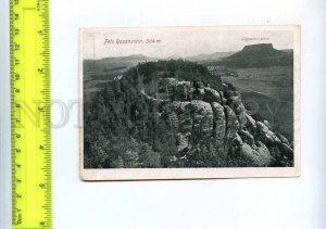 204395 GERMANY Schrammsteine Fels Rauenstein old card