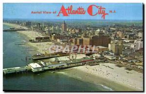 Postcard Old Aorial View of Atlantic City