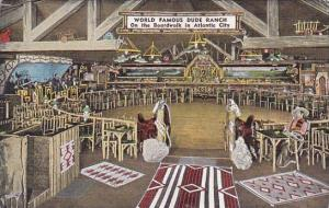 New Jersey Atlantic City Interior Of World Famous Dude Ranch Nite Club