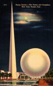 New York World's Fair 1939 The Trylon and Perisphere
