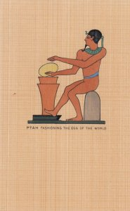 EGYPT , 1910s ; PTAH Fashioning the Egg of the Worls