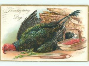 Divided-Back THANKSGIVING SCENE Great Postcard AA0452