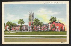 Topeka High School Topeka Kansas Unused c1944