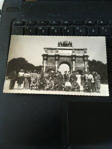 1947 Photo Postcard RPPC-  Arc De Triomphe, Tourists, Military