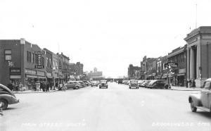 Brookings South Dakota Main Street South Real Photo Antique Postcard K98573