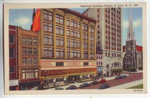 P246 JL old postcard  woolworth old cars utica ny