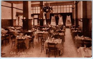 LOS ANGELES, California  CA   Interior CAFE at GATES HOTEL ca 1910s   Postcard