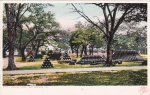 Cannon, Trophy Park, FORT MONROE, Virginia, 1903