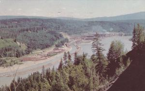 Aerial View, Quesnel Industry, Fraser River, QUESNEL, British Columbia, Canad...