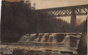F55/ Guilderland New York RPPC Postcard c1910 French's Hollow Bridge