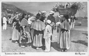 Portugal Vendedeira de Flores Madeira Postcard
