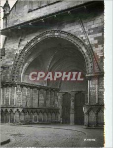 Modern Postcard Epinal (Vosges) Portal of the Basilica of Saint Maurice