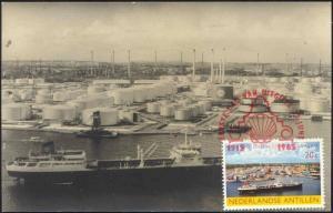 curacao, N.A., 50 Years SHELL Oil on Curacao (1915-1965) RPPC (1)