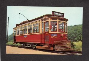 CT Trolley Car Toronto Railway Co Canada Ontario Carte Postale Connecticut Haven