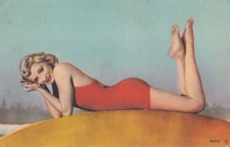 Girl in Red Swim Suit , 1930-40s