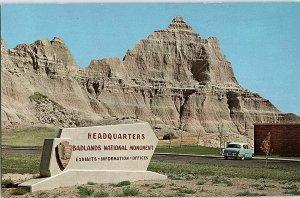 Chrome MOUNTAINS SCENE Badlands Park - Rapid City South Dakota SD AH9116