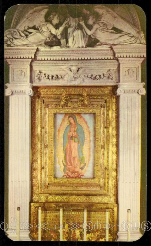 The Main Altar showing the Virgen of Guadalupe