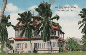 KEY WEST, Florida, 1930-40s; Casa Cayo Hueso, Southern Most House in U.S.A.