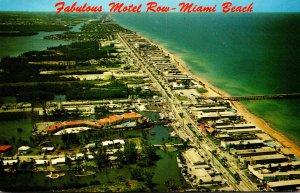 Florida Miami Beach Aerial View Of Motel Row
