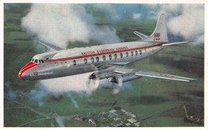 British European Airways, Viscount 800, Circa 1948 Postcard, Unused