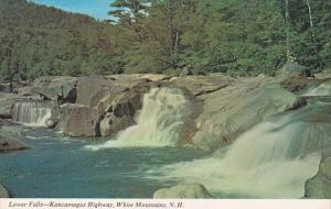 New Hampshire White Mountains Lower Falls Kancamagus Highway 1983