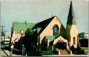Santa Rosa, California Postcard The Church Built From One Tree Baptist c1950s