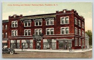 Frankfort New York~Union Building~Citizens National Bank~c1910 Artist Conception