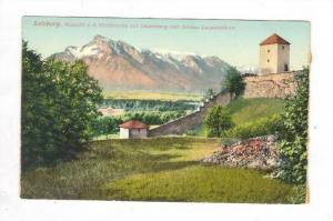 Aussicht v. d. Richterhohe mit Untersberg und Schloss Leopoldskron, Salzburg,...