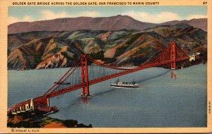 California San Francisco Golden Gate Briddge Across The Golden Gate